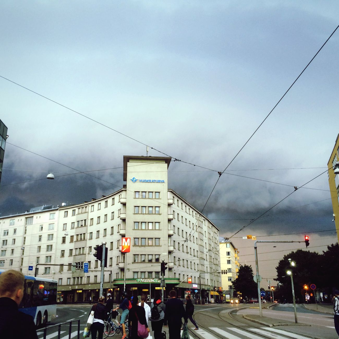 There was some very scary clouds in Helsinki, last week... Cloudy Sky Cloudy Scary Weather Scary Awesome Exciting Weather Helsinki Sörnäinen Finland Metro Station