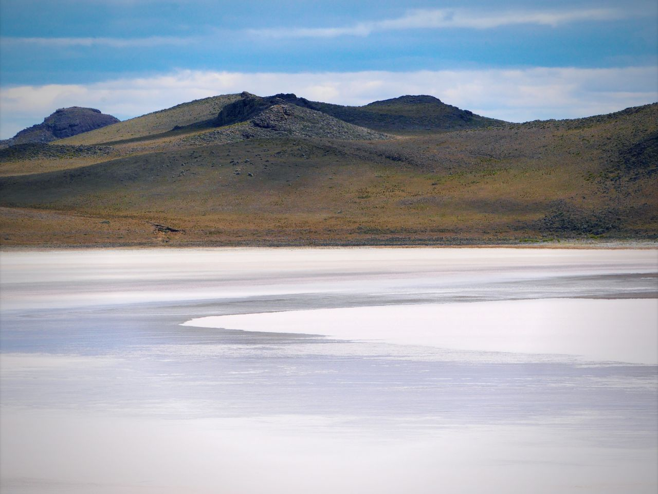 Nature Beauty In Nature Scenics Tranquil Scene Landscape Tranquility Sky Non-urban Scene Mountain Desert Salt Flat Outdoors Day No People Idyllic Cold Temperature Salt Lake Sand Patagonia Chilena Patagonia Chile