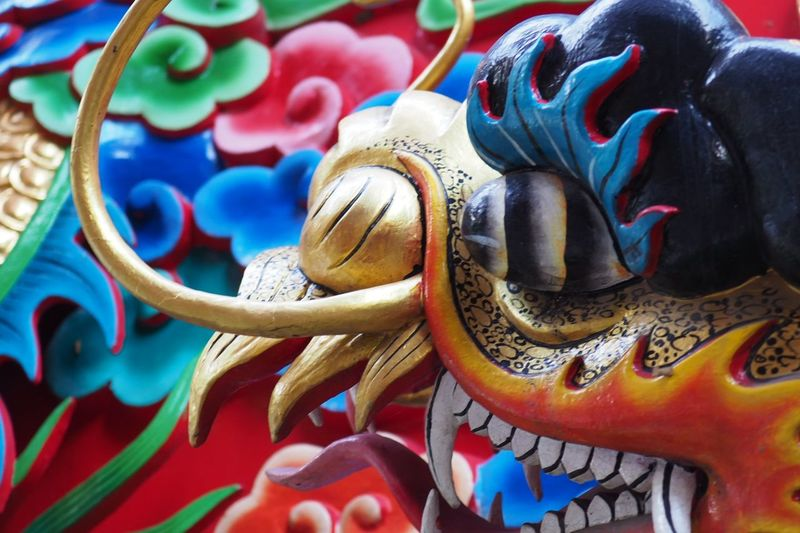 EyeEm Selects China Chinatown China Culture Dragon Multi Colored Colorful China Dragon Temple