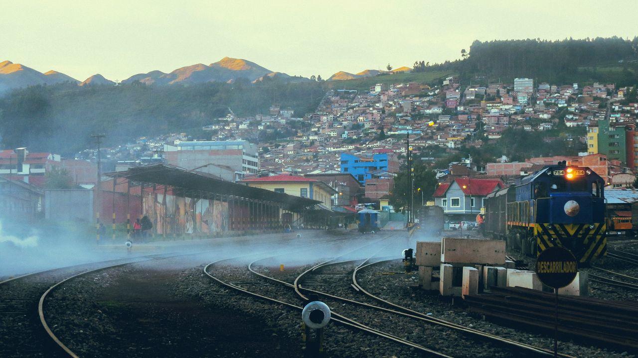 Hillside RAWphotography Travel Cusco Sunset Evening Light Walking Around Timeout Lovingit Train Tracks Train Line