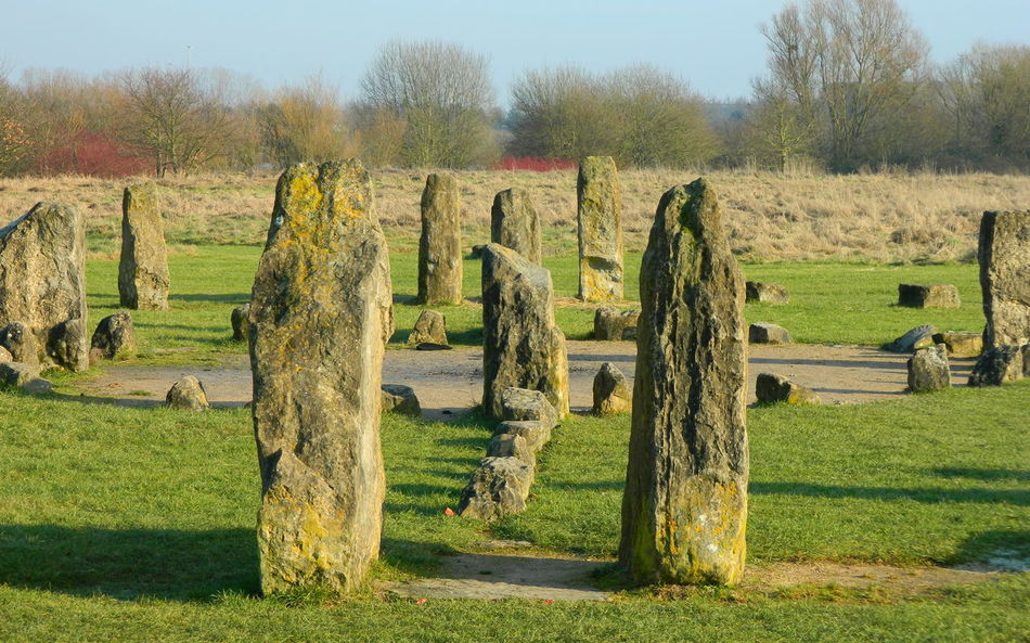 January sights Day Grass Green Color Nature No People Outdoors Sky Standing Stones Stone Circle Stones Sunlight Tranquility