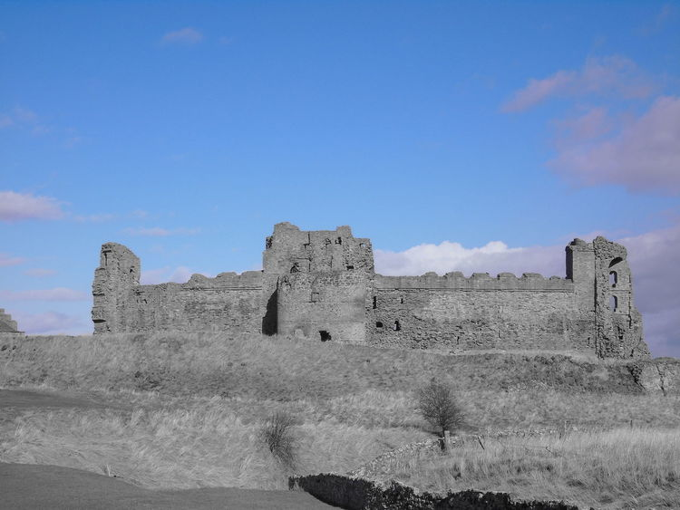 Black And White Castle Colour Contrast Dalkeith House Framing History Landscape Leading Lines Outdoors Panorama Scotland Silhouette Tantallon Castle