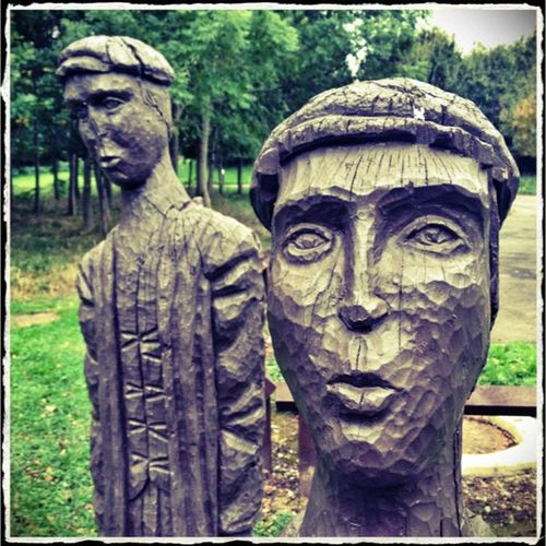 Phototoaster Snapseed Brierleyforest Brierleyforestpark Nottinghamshire Wooden Woodenface Coalminers Photo365 Photooftheday Carving K8marieuk