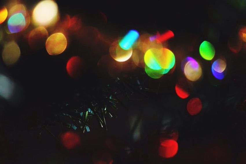 Chrismas Christmas Tree Colors Light