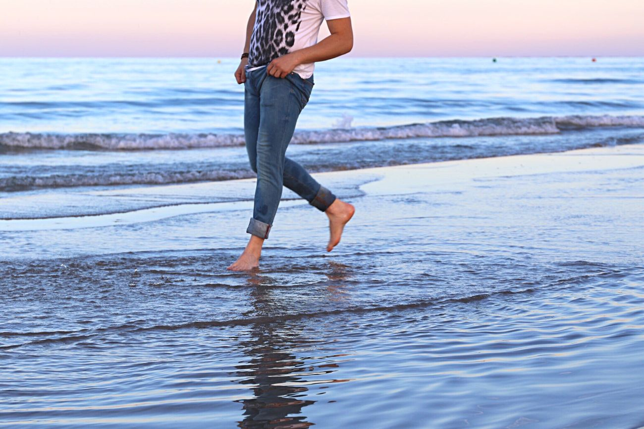Beautiful stock photos of legs, Beach, Beauty In Nature, Casual Clothing, Focus On Foreground