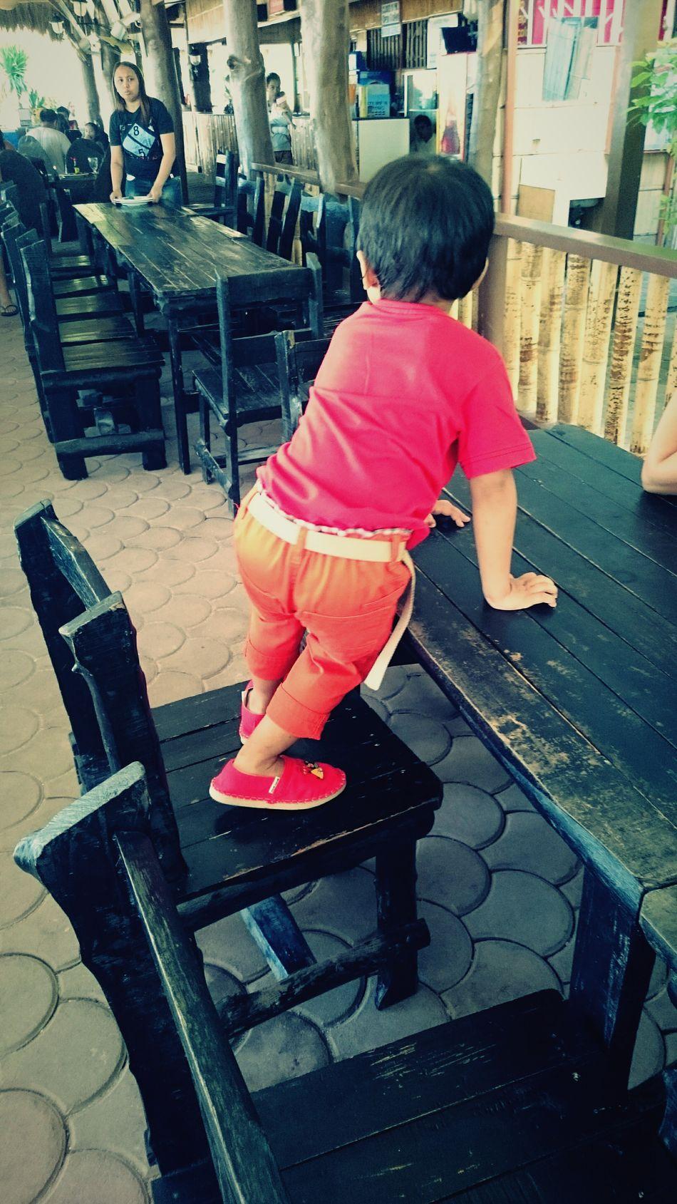 Waiting for his coffee. Summertime Family Gumasa Beach, Glan