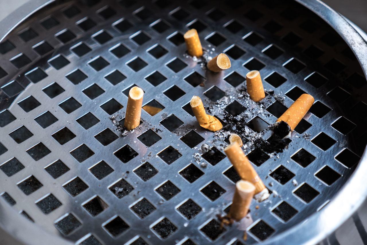 Addiction Ashtray  Cigarette Butts Cigarettes Close-up Dangerous Habit Macro