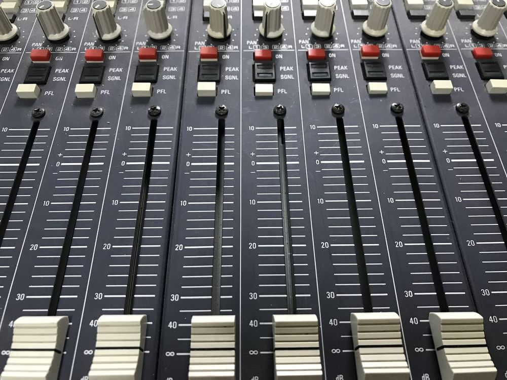 Arts Culture And Entertainment Audio Equipment Backgrounds Close-up Control Control Panel Day Equipment Full Frame In A Row Indoors  Media Equipment Mixing Music No People Radio Station Recording Studio Sound Mixer Sound Recording Equipment Studio Technology