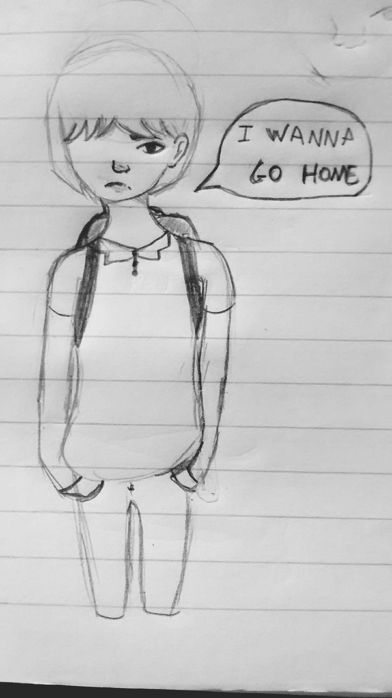 Boring Class Drawn I Wanna Go Home