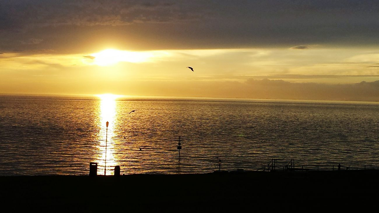 Sunset in hunstanton 2015 First Eyeem Photo