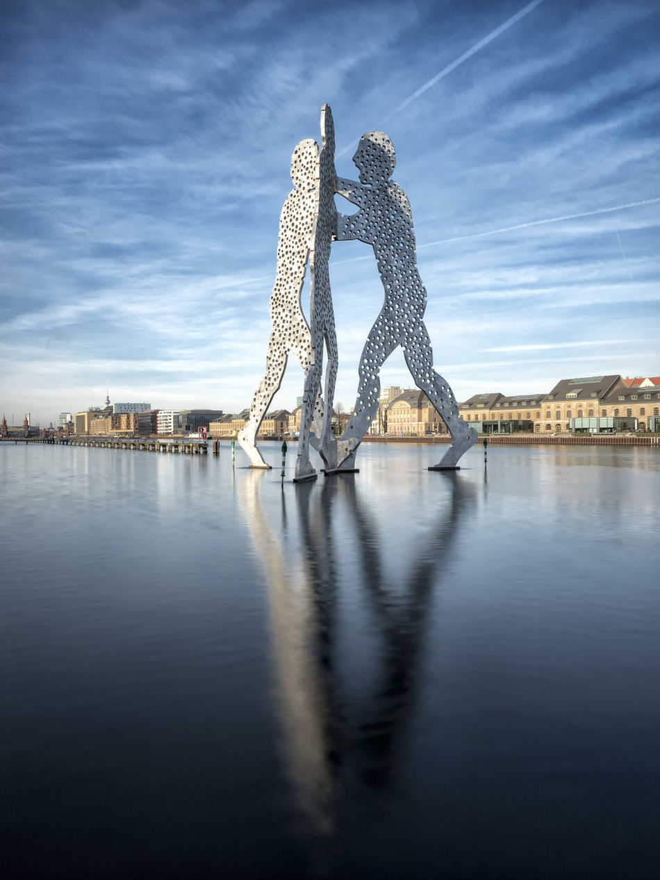 Architecture Berlin Berliner Ansichten City Cityscape Cloud - Sky Germany Molecule Man No People Outdoors Reflection Reflection Reflections River River View Riverside Sky Travel Destinations Treptower Park Water Water Reflections Capture Berlin