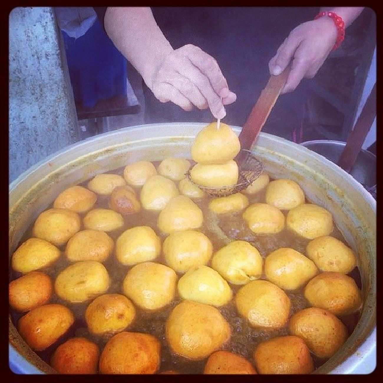 識食嘅,一定去大澳食頭咁大嘅魚蛋! Fishball Yummy Tai_O