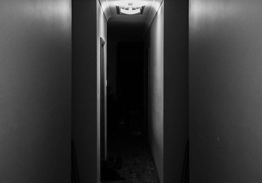 Don't walk alone. Closed Creepy Creepy Hallway Dark Door Doorway Entrance Indoors  Wall