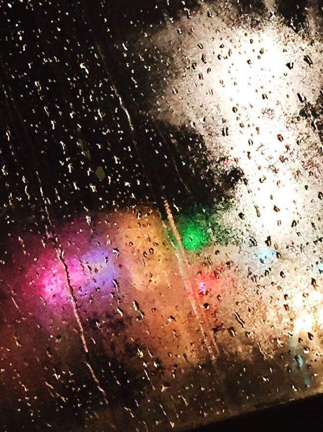 Rain rain Rainy Days Night Lights Nightphotography Night View Withme Loverain VariousColors ❤️❤️🌧🌧🌧