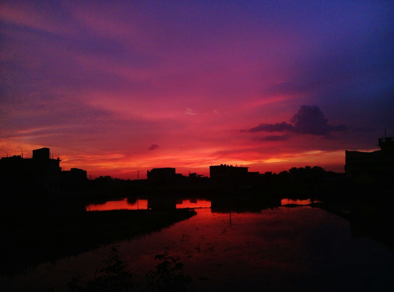 sunset, silhouette, architecture, sky, built structure, no people, building exterior, nature, beauty in nature, outdoors, water