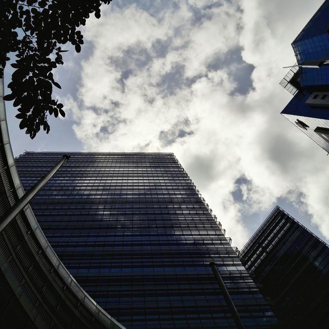 Low Angle View Architecture Building City Life Cloud - Sky Dramatic Angles Cloud Office Building City