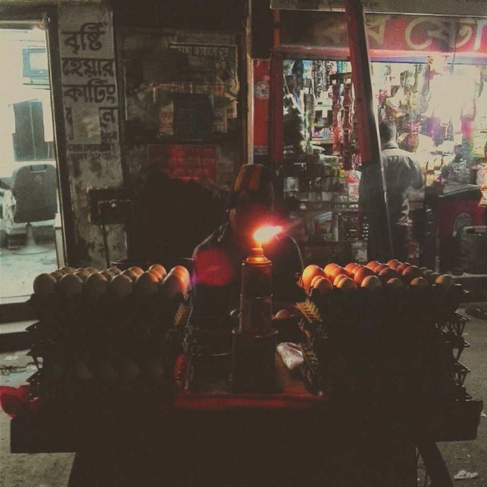 Small Egg Business in Dhaka streets. Smallshop Dhaka Streetphotography