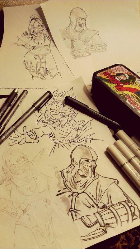 Make Magic Happen Art Mkx MORTALKOMBATX Mortalkombat Dragonballz Goku Noob Melina Gettn bak into drawing.... More Otw