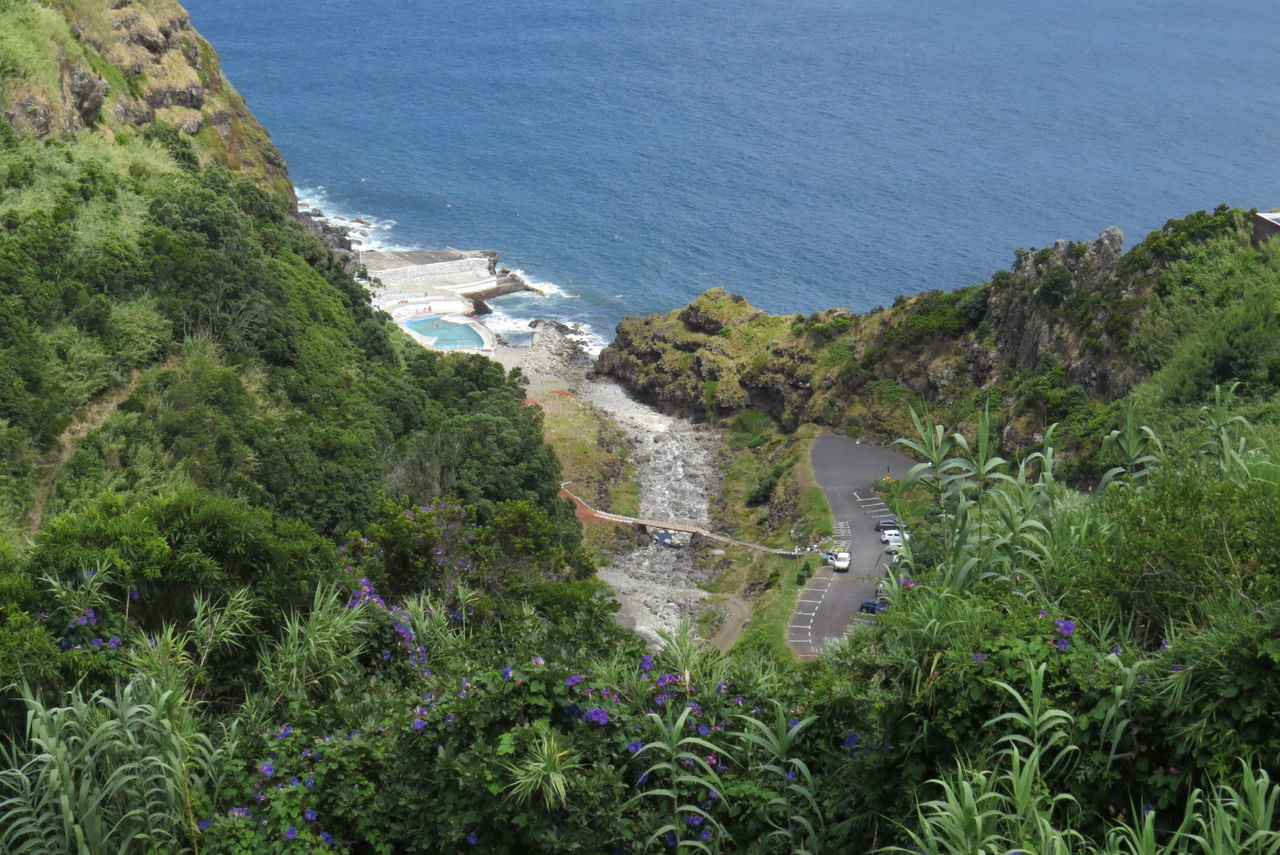 Atlantic Ocean Açores - São Miguel Beautiful Bathing Place Blue Green Idyllic Nature Outdoors Steep Route Vacation Time Water