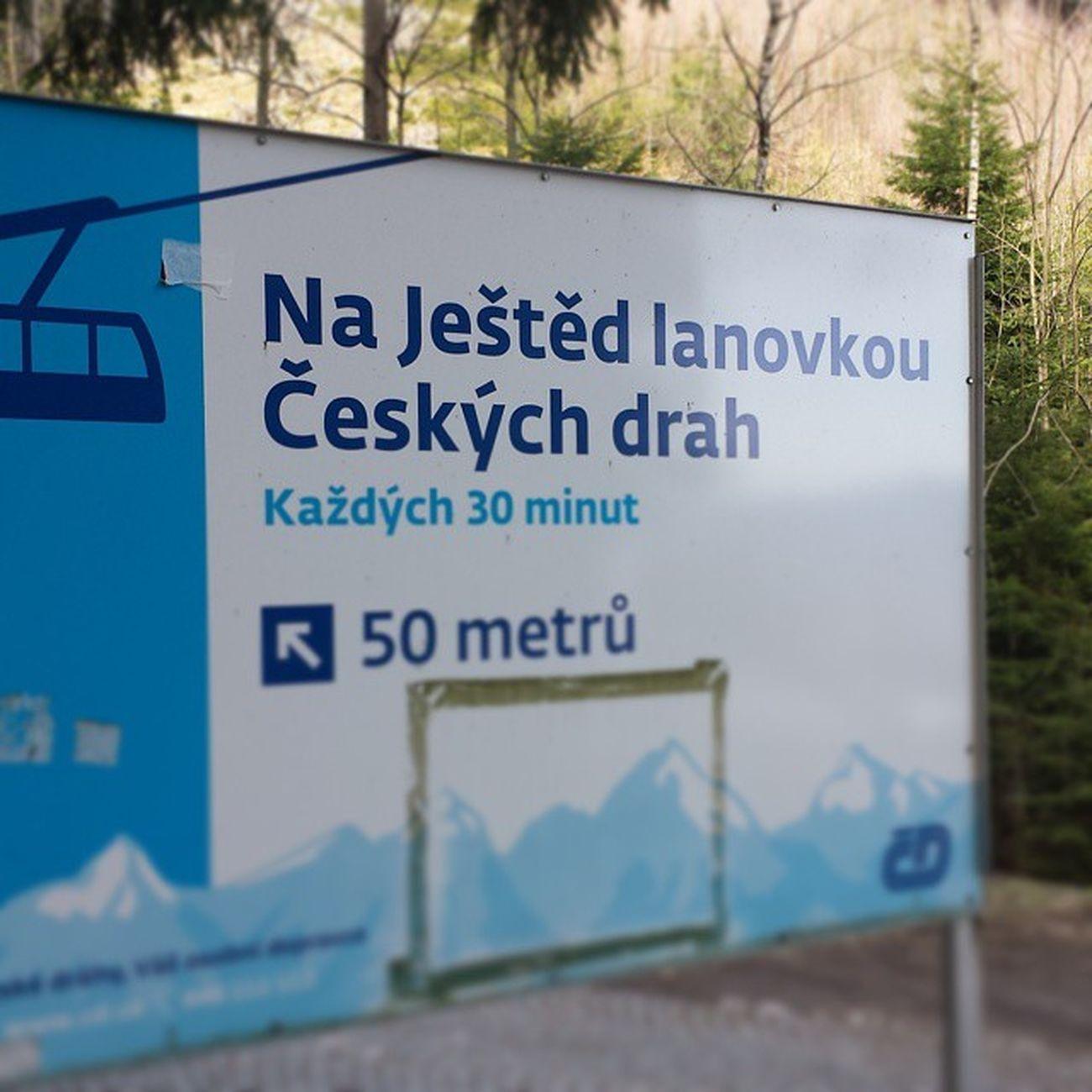 Vzhůru do oblak Jested Liberec Cableway Sun snow