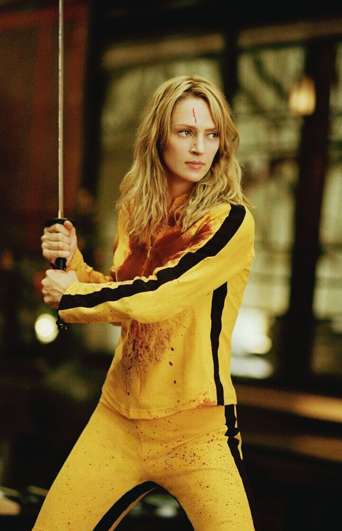 Killbillv Big Fan Love ♥ Uma Thurman Bloody Revenge Gorgeous ♥ Yellow&black Blonde ♡