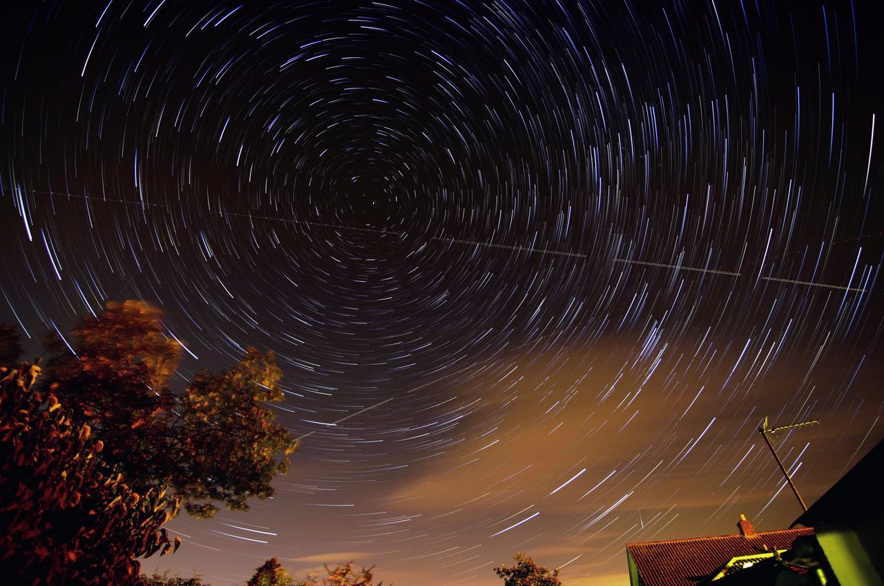 Beautiful stock photos of space, Astronomy, Beauty In Nature, High Section, Long Exposure