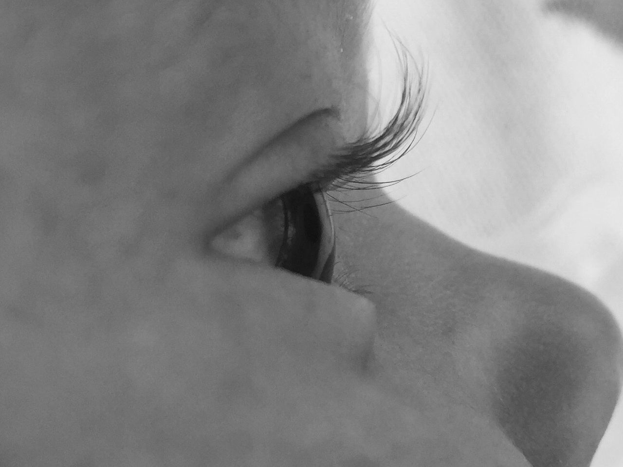 Close-Up Of Baby Girl Eye