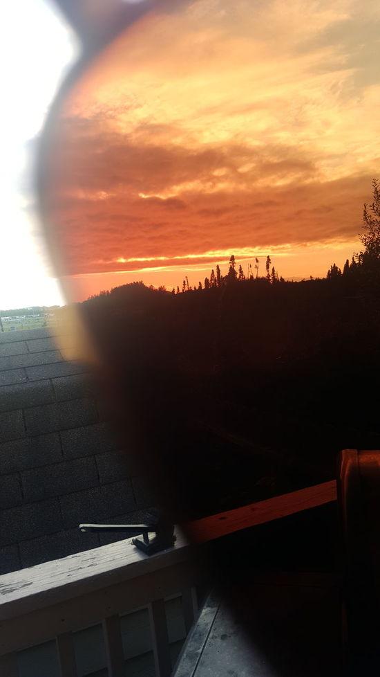 Threw My Sunglasses Alaska View Myhomealaska Alaska Is Where I'm At Alaskan Sunset No Filter, No Edit, Just Photography Alaska Sunset Outdoors Beauty In Nature