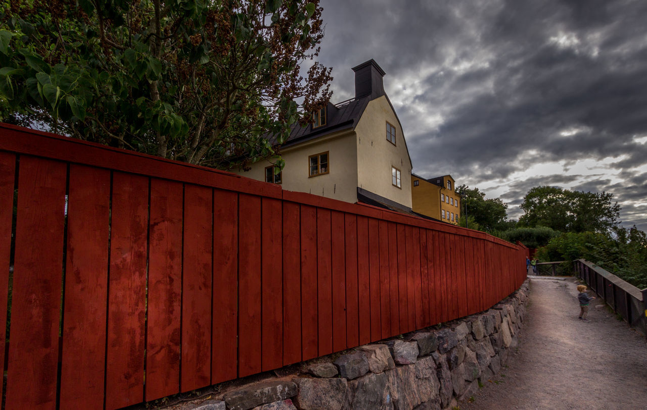 House at Montelliusvagen Architecture Building Exterior Built Structure Cloud - Sky Day Eye4photography  EyeEm Best Edits EyeEm Best Shots EyeEm Gallery Fence House Montelliusvagen Nature No People Outdoors Sky Stockholm Stockholm, Sweden Tree