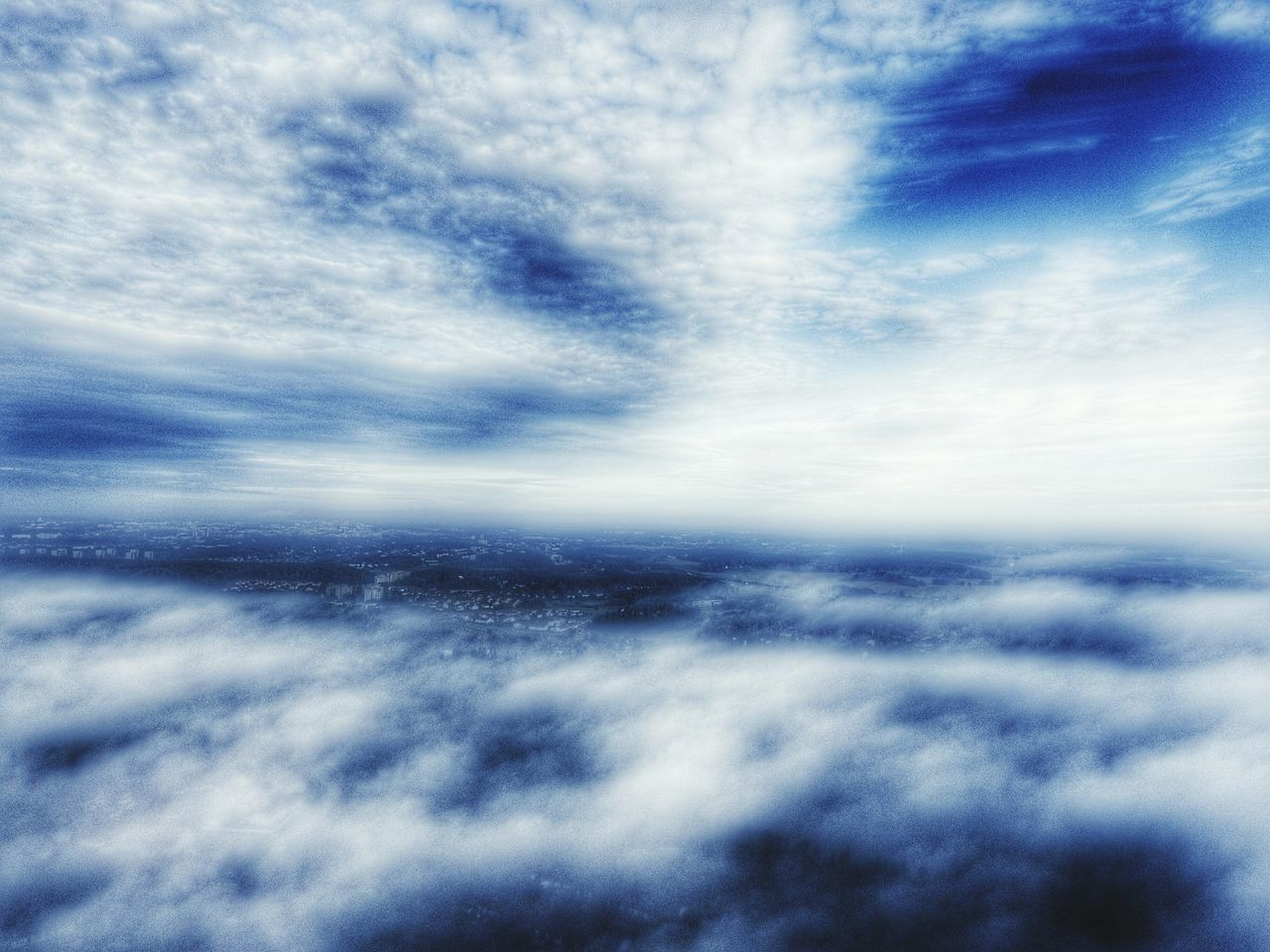 sky, cloud - sky, nature, scenics, beauty in nature, cloudscape, tranquil scene, backgrounds, tranquility, majestic, sky only, idyllic, blue, space, ethereal, no people, outdoors, awe, low angle view, day, astronomy, the natural world, star - space, galaxy