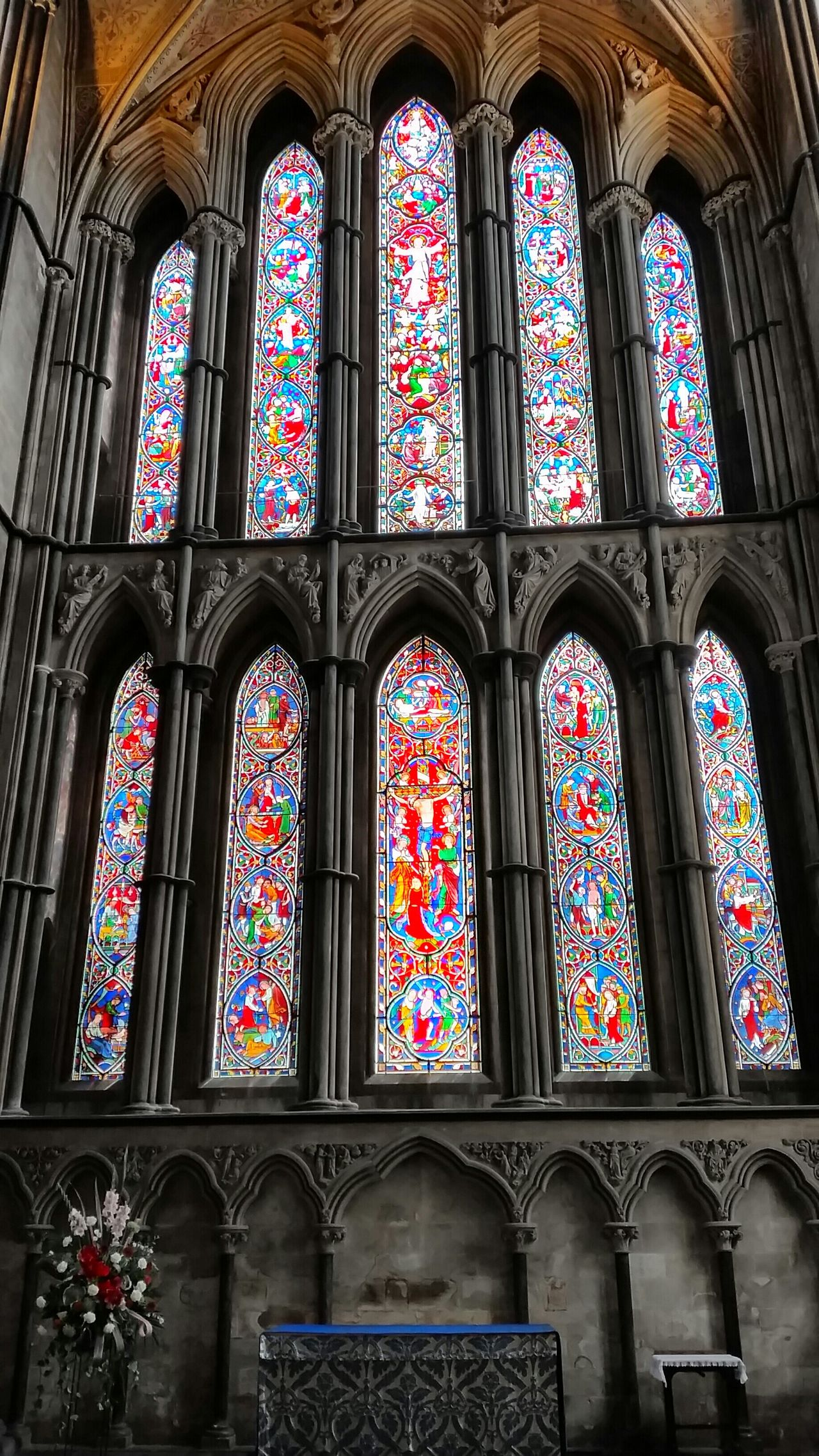 'The Cloth of Blue' Colour Of Life Cathedral Stained Glass Window Exceptional Photographs EyeEm Best Shots EyeEm Gallery Striving For Excellence Eye4photography  Towards The Light Tadaa Community Streamzoofamily EyeEm_crew England 🌹 Worcester Colourful Colorful Stained Glass Windows Inspiration Blue