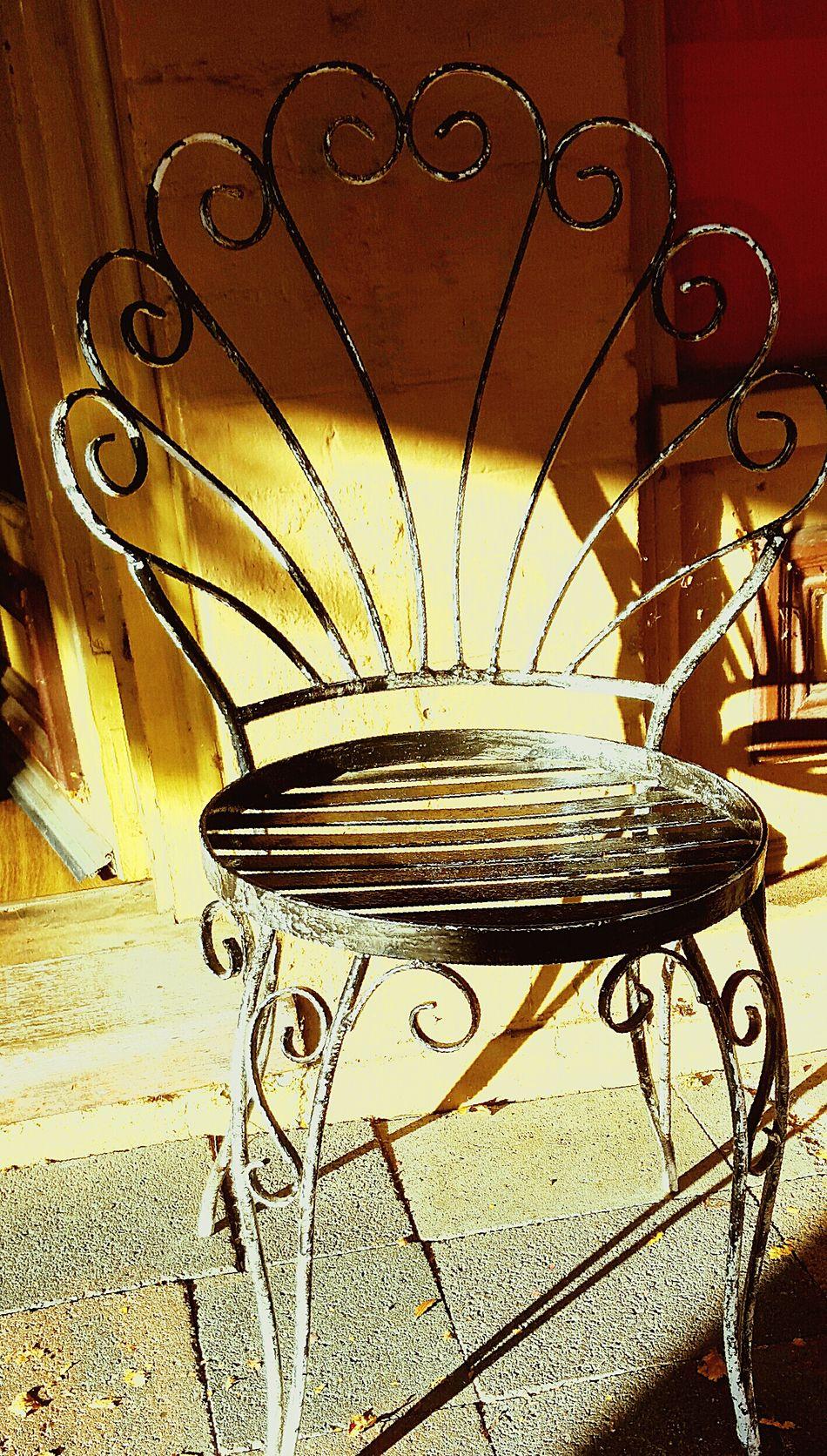 French Iron chair .. French Iron Chair One Chair