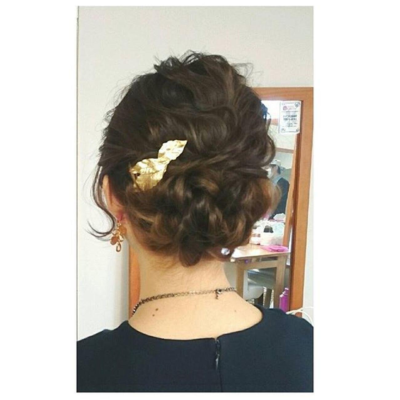 ヘアセット Hairアレンジ ヘアアレンジ Hair 美容院 錦 セットサロン 成人式 ヘアー ヘアーアクセサリー クルリンパスティック 編み込み 解説 Byshair Locari 波ウエーブ! ヘアーアクセサリーが可愛い♡