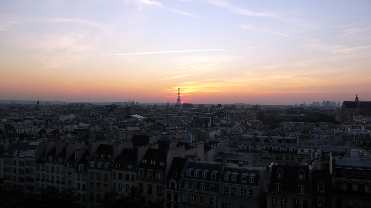 View Of Cityscape With Eiffel Tower In Background