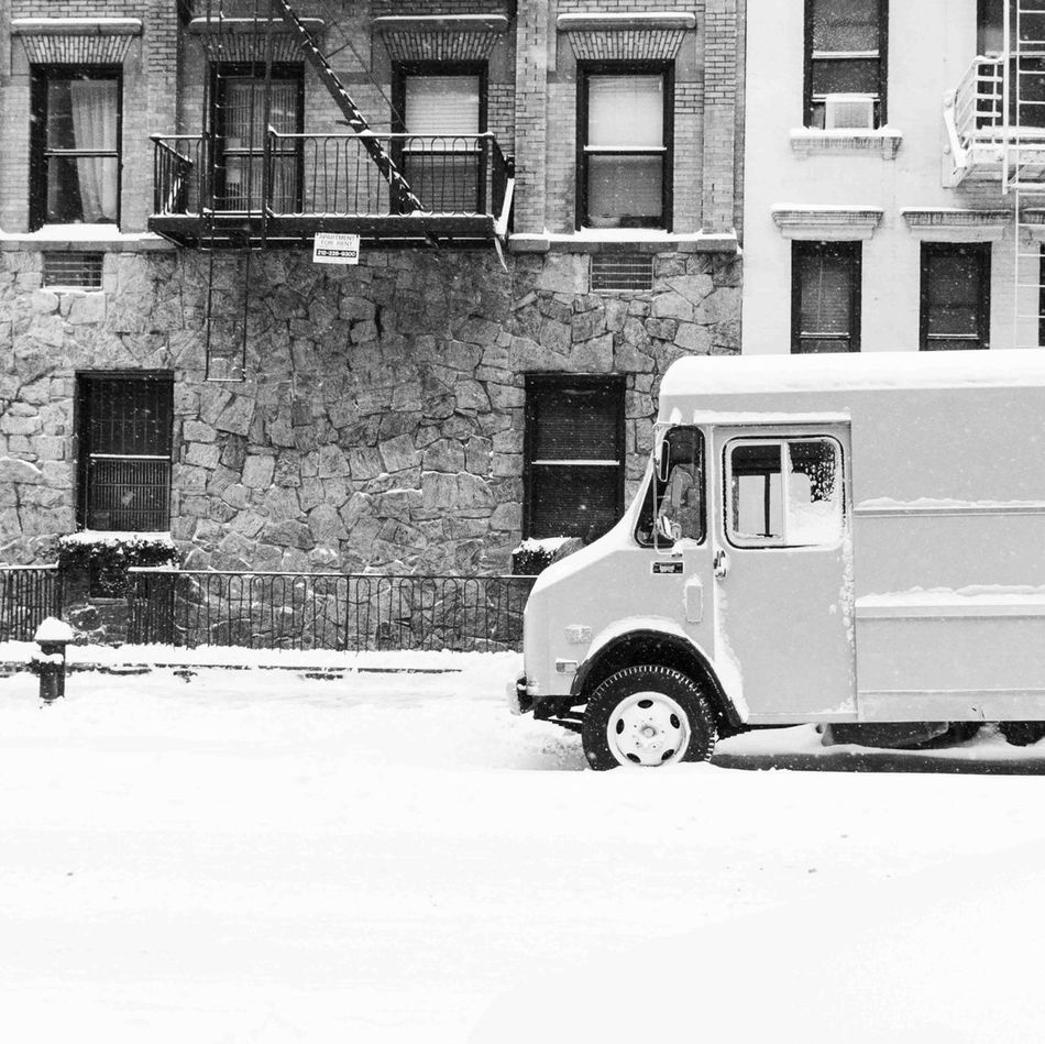 Snow in NYC Blackandwhite Street Photography NYC