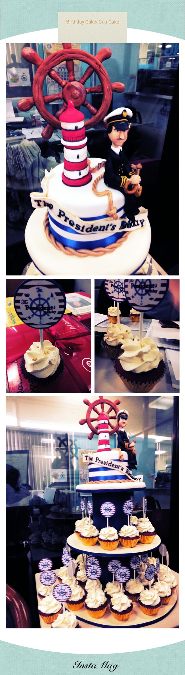 Celebrating our boss birthday.. ↖(^ω^)↗↖(^ω^)↗ Eat Eat And Eat!!! Having Fun :) Cup Cakes Happy Birthday! #latepost