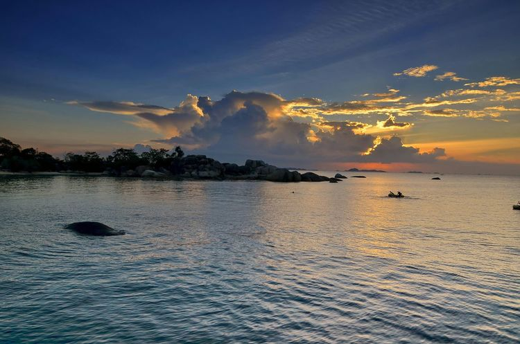 Tanjung kelayang Beach Landscape Belitung Island Sunset Laskar Pelangi Island Hopping Clouds My Hometown Clouds And Sky