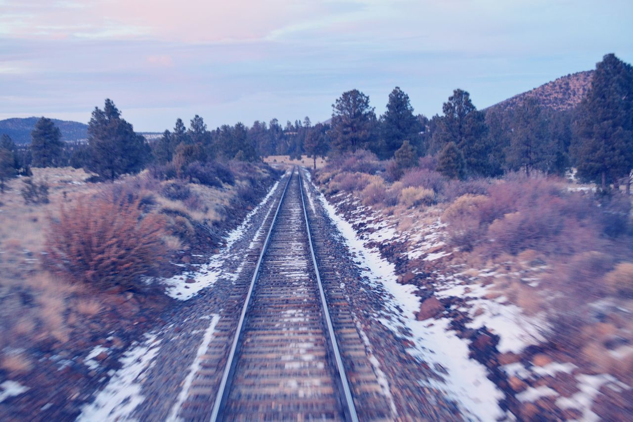 Adventure tracks! The Great Outdoors - 2016 EyeEm Awards Train Ride To The Grand Canyon Train Tracks Outdoors Beauty In Nature Sky Nature