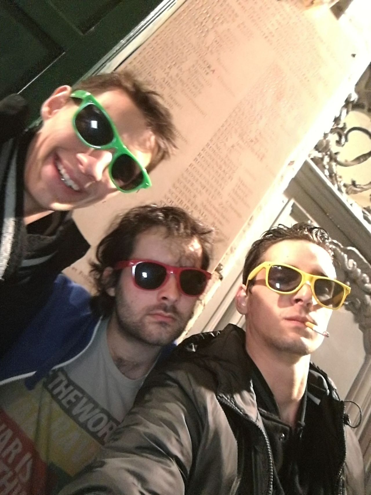 Sunglasses Young Adult Lifestyles Friendship Young Men City Fun Men Adults Only Fashion People Cheerful Togetherness Hipster - Person Two People Adult Beard Outdoors City Life Happiness