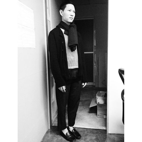 The night is young and the show has just begun :: top Greyhoundoriginals , cardigan Peachookrejberg , cardigan around neck RickOwens , pants Ab +normal , shoes Massimodutti