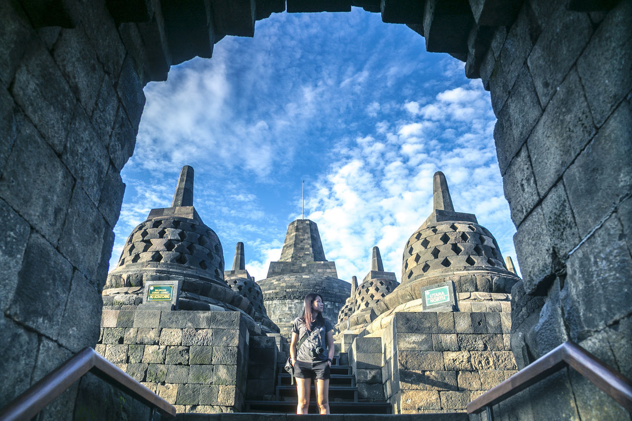The breeze at Borobudur Feel The Journey Photography Landscape UNESCO World Heritage Site Borobudur Temple Yogyakarta Architecture Temple Candi Portrait First Eyeem Photo