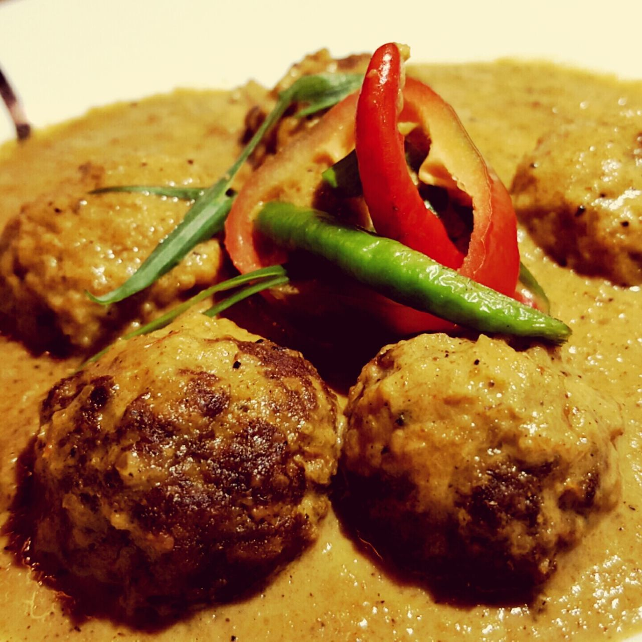 "The indian spicy food ""Beef Kofta"" was so good my mouth became watery yum!! Spicybeef Indianfood SpiceN'Wok"