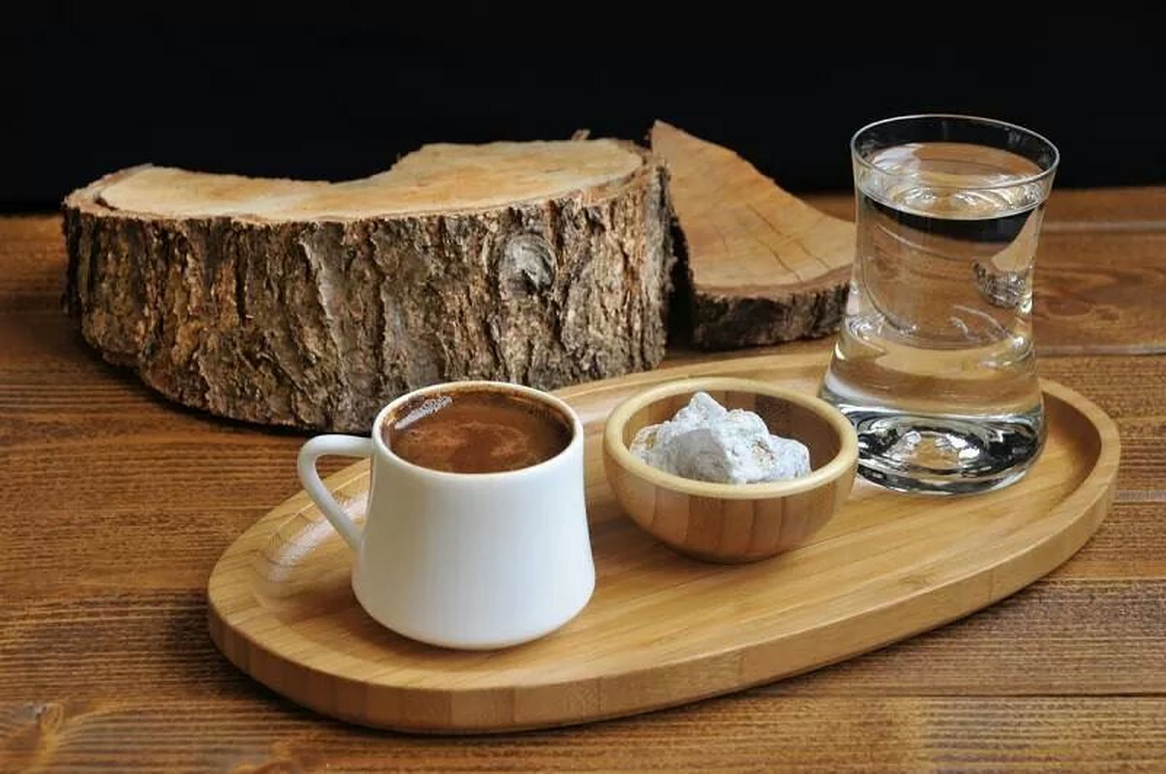 food and drink, table, drink, freshness, indoors, refreshment, still life, coffee - drink, coffee cup, food, drinking glass, wood - material, saucer, high angle view, close-up, ready-to-eat, healthy eating, wooden, breakfast, bread