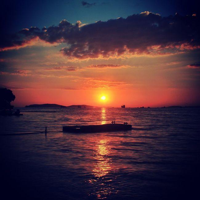 Sunset Sea Sky Landscape