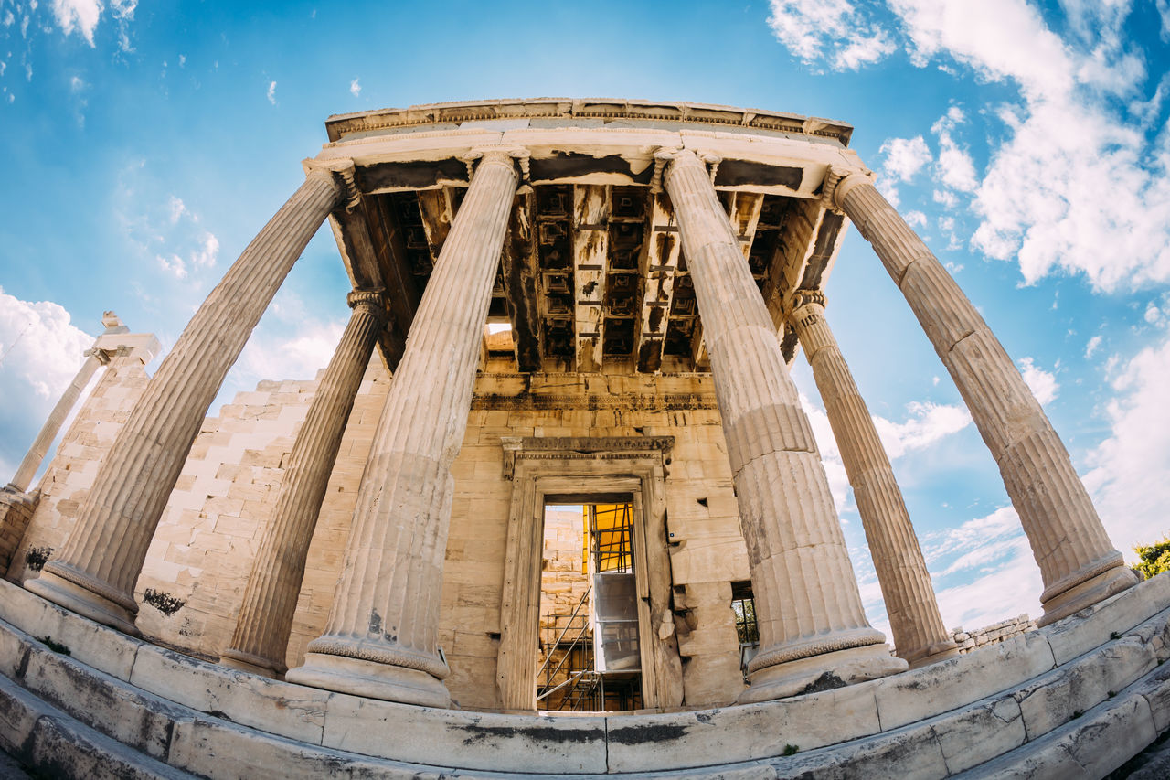 Low Angle View Of Parthenon
