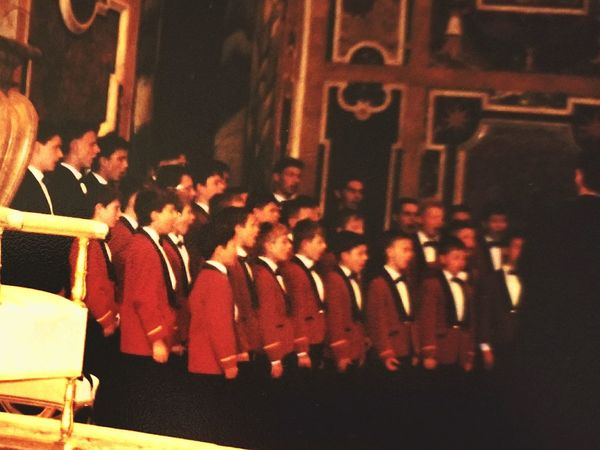 Papal Palace Small Audience With The Pope Pope John Paul II Choir Adult Indoors  History Architecture Travel Destinations Rethink Things Postcode Postcards Perspectives On Nature Rome Italy🇮🇹 Roma Italia Great Time  City Cathol Faith Boys Choir Great Time  Indoors  Clothes Distance Polish Audience April 1998 Impressive