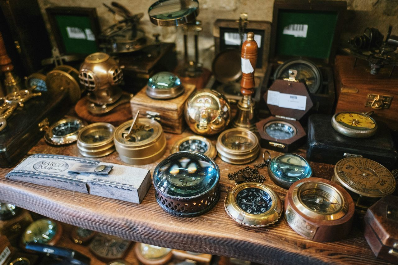 Abundance Antinque Market Antique Antique Arrangement Artefact Choice Close-up Collection Focus On Foreground Large Group Of Objects No People Ornate Retro Styled Selective Focus Still Life Variation