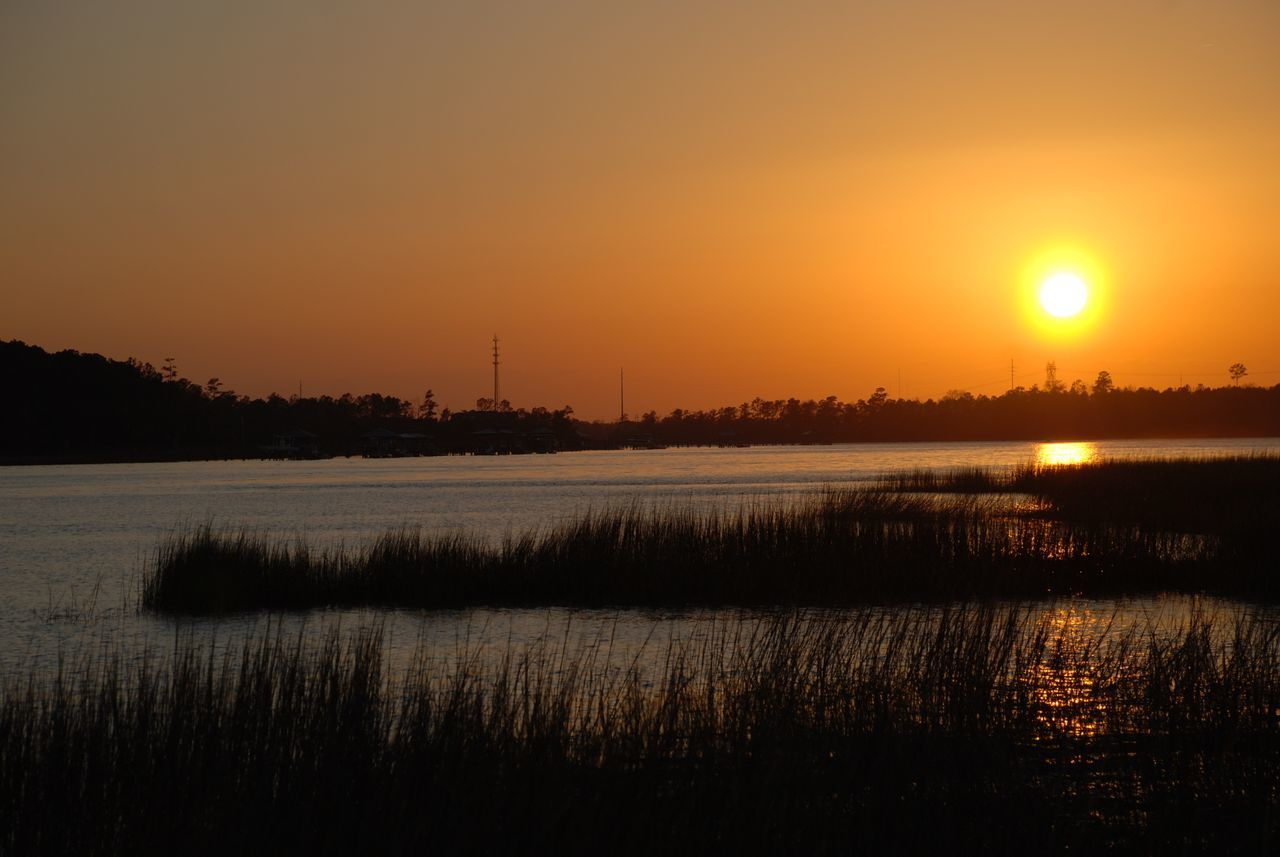 Photo on Wando River Mt. Pleasant SC Atmosphere Calm Light Majestic Marshgrass Marshland  Outdoors Reflection River Scenics South Carolina Sunset Tranquil Scene Tranquility United States Wando River Water Waterfront