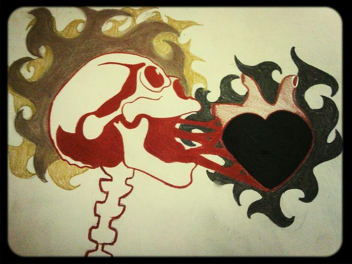 Drawing Skulls♥ Remake Charcoal