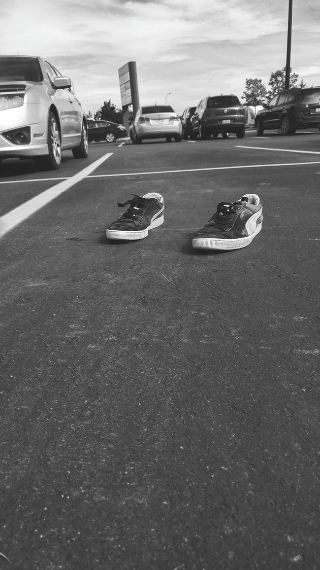 Transportation Land Vehicle Mode Of Transport Road Outdoors Day No People Shoes Shoeselfie Lonely Objects